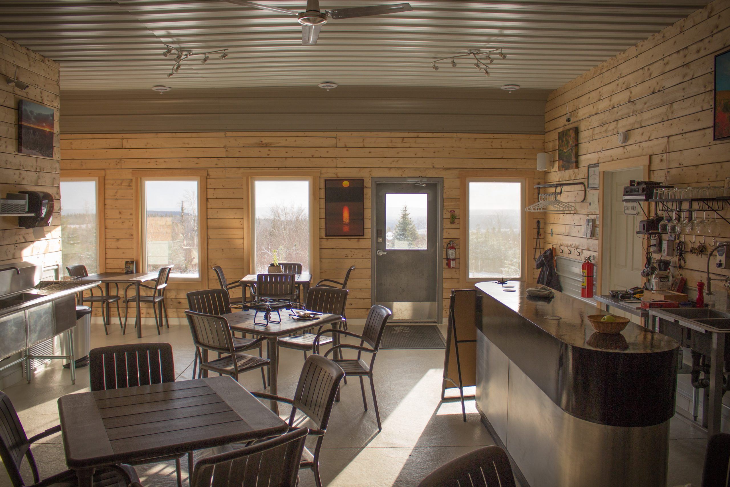 Iron Mountain Lodge - Nova Scotia's first 100% off-grid licensed pub.