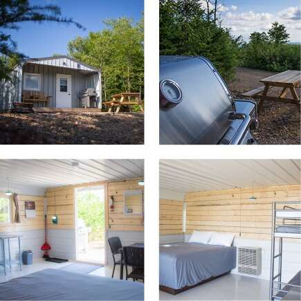 Off-Grid Camping Cabins on Cape Breton Island
