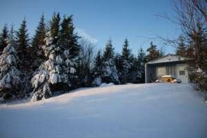 Iron Mountain Wilderness Cabin in Winter
